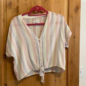 Rails Tie Front Thea Button Up Shirt